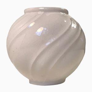 Vase Rond Art Déco en Porcelaine par Lyngby Porcelæn, Danemark, 1930s