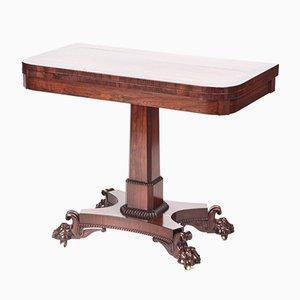 Table de Jeux William IV Antique en Palissandre