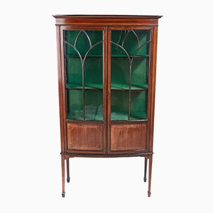Antique Mahogany Inlaid Display Cabinet