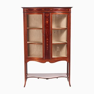 Edwardian Inlaid Mahogany Display Cabinet, 1900s