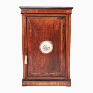 Victorian Inlaid Walnut Corner Cabinet, 1850s