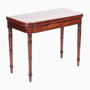 Mesa para cartas George III antigua de caoba