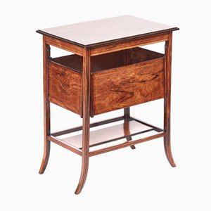Antique Inlaid Rosewood Console Table