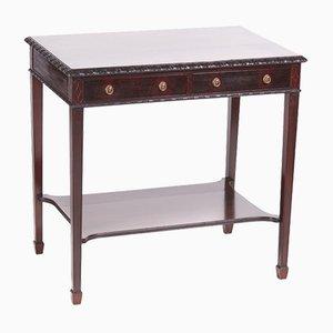 Table d'Appoint Édouardienne Antique en Acajou