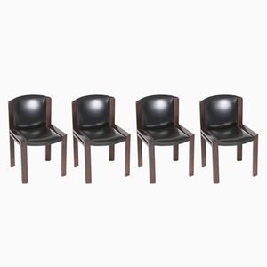 Vintage Chairs by Joe Colombo for Pozzi, Set of 4