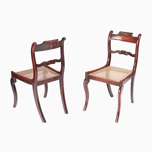 Antique Regency Mahogany Side Chairs, Set of 2