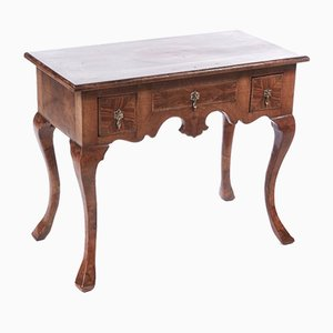 Antique Walnut Inlaid Lowboy, 1770s