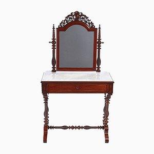 Victorian Mahogany Dressing Table, 1860s