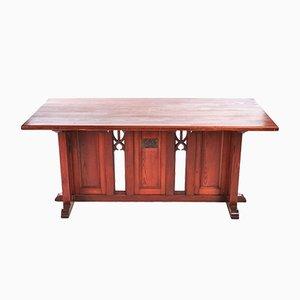 Tavolino gotico in pino, met