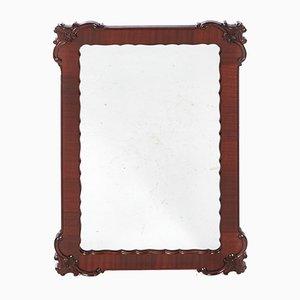 Specchio da parete vintage in mogano intagliato, anni '20