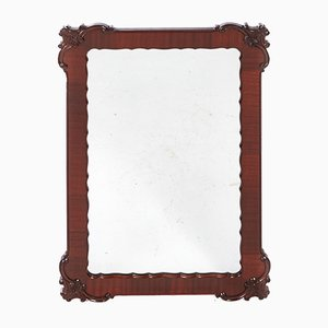 Vintage Carved Mahogany Wall Mirror, 1920s