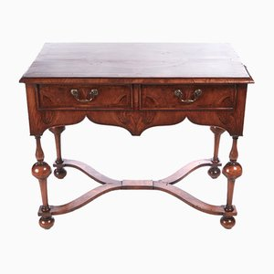 Antique Inlaid Burr Walnut Side Table