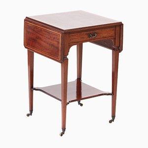 Antique Edwardian Inlaid Mahogany Lamp Table