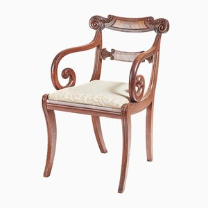 Chaise de Bureau Regency Antique en Acajou