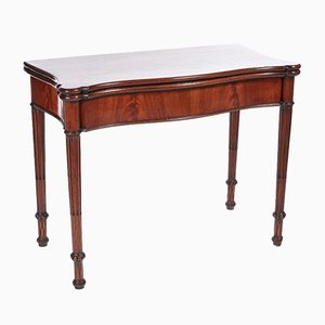 Antique Hepplewhite Mahogany Card Table