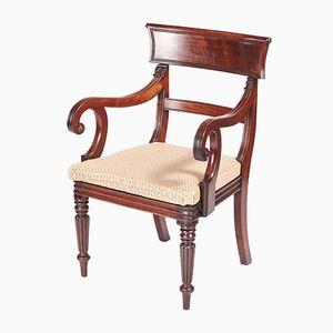 Antiker William IV Schreibtischstuhl aus Mahagoni