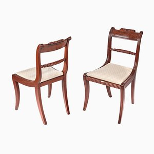 Regency Mahogany Side Chairs, Set of 2