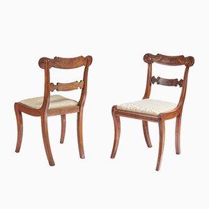 Chaises d'Appoint Regency Antiques en Acajou, Set de 2