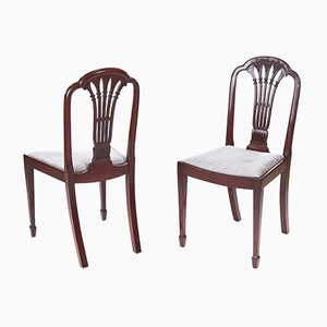 Antique Mahogany Carved Side Chairs, Set of 2