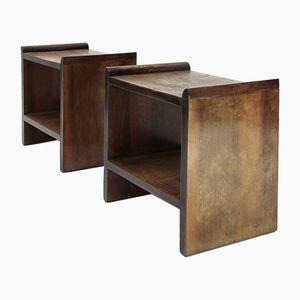 Tables de Chevet Mid-Century, Italie, 1940s, Set de 2