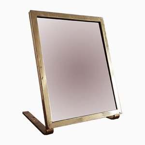 American Gilt brass Shoe Shop Mirror, 1940s