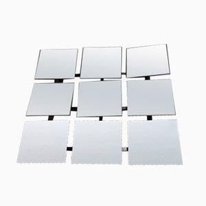 Espejo formado por nueve paneles ajustables de Markus Borgens, años 80