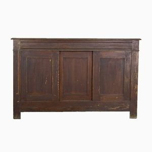 Antique Shallow Oak Cupboard