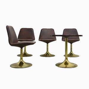 Kleiner Tisch und 4 Drehstühle von Börje Johansson für Johansson Design, 1970er