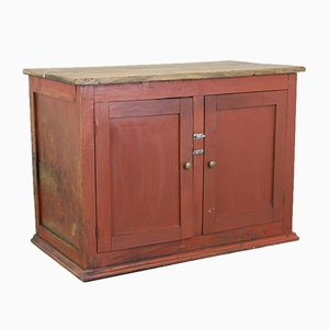 Vintage Red Portugese Cupboard, 1930s