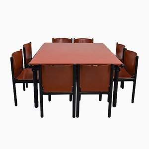 Capri and Caprile Dining Set by Gianfranco Frattini for Cassina, 1985