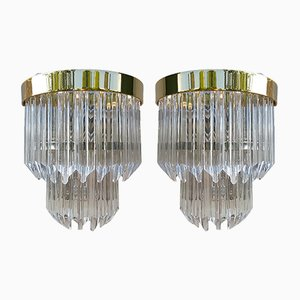 Vintage Modern Murano Sconces, Set of 2