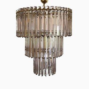 Lámpara de araña Mid-Century modernista de cristal de Murano