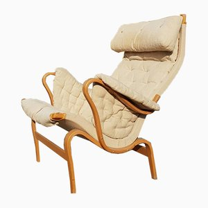 Vintage Poltrona Pernilla Lounge Chair by Bruno Mathsson for Dux