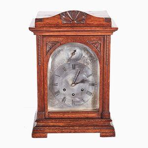 Antique Oak 8-Day Mantel Clock, 1880s