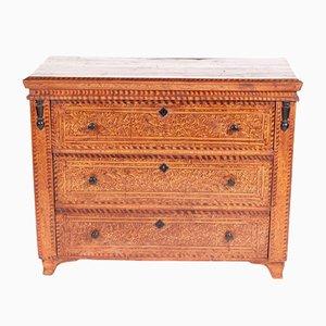 Commode Antique en Bois Peint