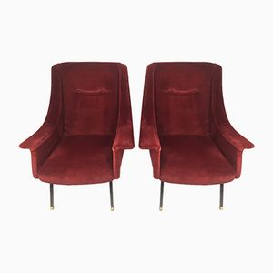 Customizable Mid-Century Lounge Chairs, 1950s, Set of 2