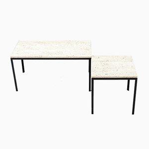Tables Vintage en Travertin de Archi, 1956, Set de 2