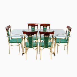 Hollywood Regency Italian Dining Set, 1983