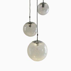 Lámparas colgantes Raindrop, años 70. Juego de 3