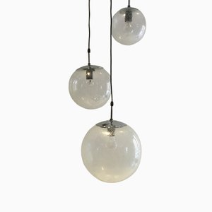 Raindrop Pendant Lamps, 1970s, Set of 3