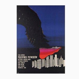 Polnisches War Of The Gargantuas Filmplakat von Jerzy Flisak, 1970er