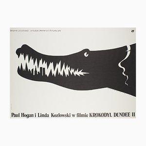 Affiche de Film Crocodile Dundee 2 par Mieczyslaw Wasilewski, Pologne, 1989