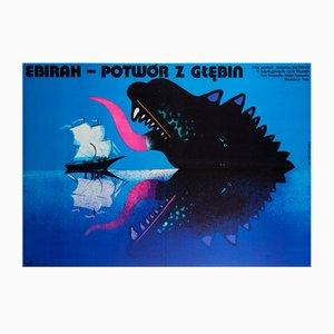 Affiche de Film Godzilla vs The Sea Monster par Mieczyslaw Wasilewski, Pologne, 1978