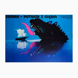 Polish Godzilla vs The Sea Monster Movie Poster by Mieczyslaw Wasilewski, 1978