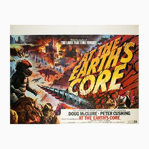 British At The Earth's Core Movie Poster by Tom Chantrell, 1976