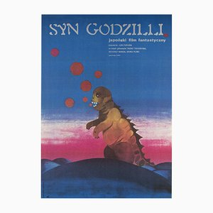 Polish Son of Godzilla Movie Poster by Zuzanna Lipinska, 1974