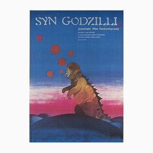 Polnisches Son of Godzilla Filmplakat von Zuzanna Lipinska, 1974