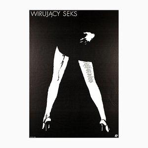 Affiche de Film Dirty Dancing par Mieczyslaw Wasilewski, Pologne, 1989