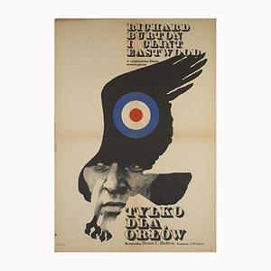 Affiche de Film Where Eagles Dare par Maciej Zbikowski, Pologne, 1972