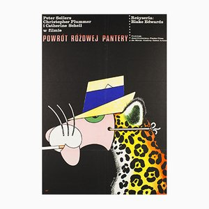 Póster polaco de la película Return of the Pink Panther de Edward Lutczyn, 1977
